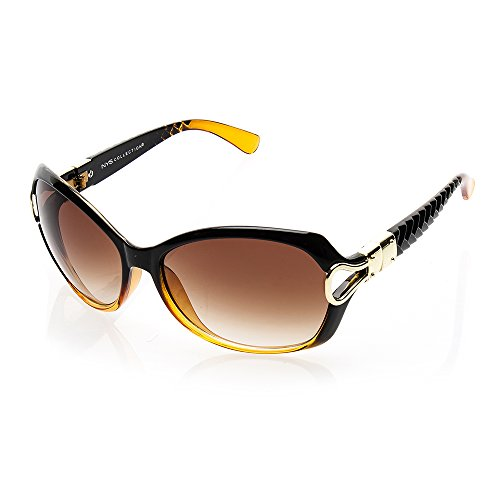 NYS Collection 5th Avenue Plastic Fashion Sunglasses, Brown Frame/Brown - Avenue Sunglasses Fifth