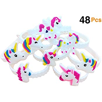amazoncom unicorn slap bracelet silicone wristbands