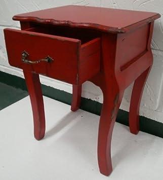 Nachttisch Rot eagle shabby chic nachttisch kommode klein holz antik