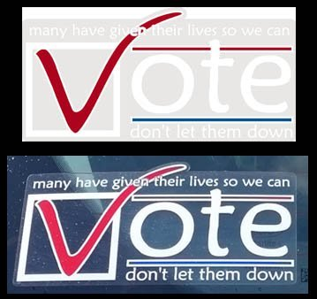 Vote - Clear vinyl sticker - many have given their lives so we can vote - don't let them down - USA patriotic Vinyl Decal Sticker 3.5
