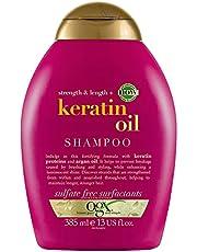 OGX anti-breekmiddel keratine olie shampoo, per stuk verpakt (1 x 385 ml)