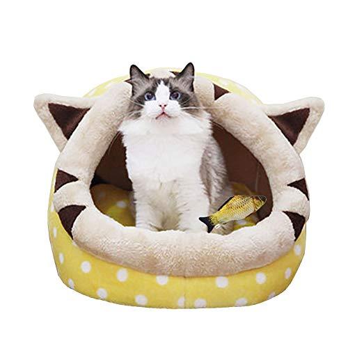 YunNasi Katzenhöhle Katzen Haus Katzenbett Haustier Pet Nest Schlafsack Kuschelhöhle Für Komfortabel