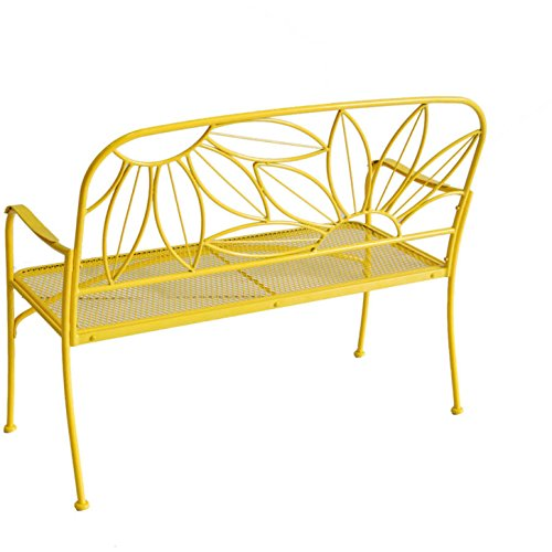 Mainstays outdoor patio furniture bench sunny yellow for Outdoor furniture yellow
