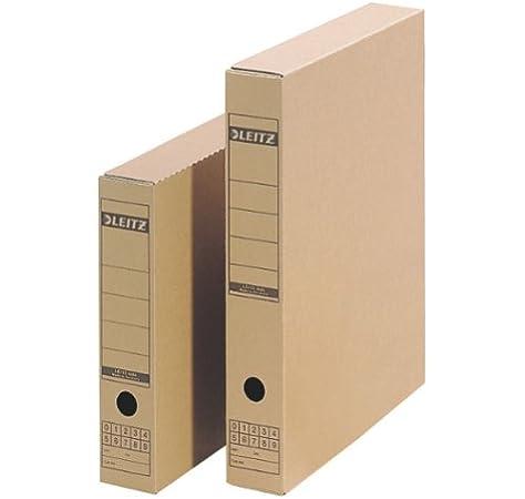 Leitz 60850000 - Caja para archivos (A3, cartón), color marrón: Amazon.es: Oficina y papelería