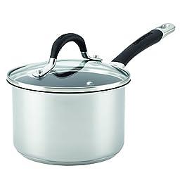 Circulon 78006 Momentum Nonstick Covered Saucepan, 2 quart, Stainless Steel