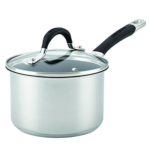 Circulon 78006 Momentum Nonstick Covered Saucepan, 2 quart, Stainless Steel