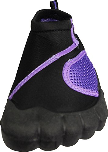 Norty Femmes Séchage Rapide Aqua Chaussures Chaussures De Sport Nautique Pour La Plage De La Piscine De Nautisme De Baignade Surf Noir / Violet