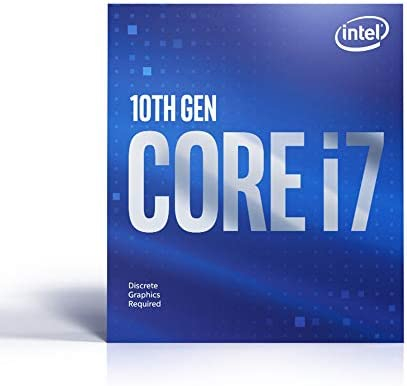 Intel Core i7-10700F Desktop Processor 8 Cores as much as 4.8 GHz Without Processor Graphics LGA1200 (Intel 400 Series chipset) 65W