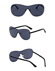 Gee-Look Large Oversized Women's Rimless Shield Sunglasses