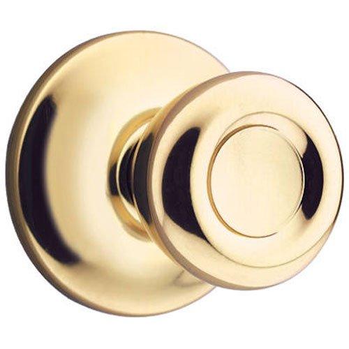 (KWIKSET 200T 3 Polished Brass Finish, Tylo Passage Lockset, for Hall or Closet Use, Fixed 2-3/8