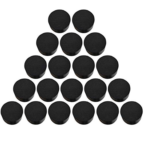 Magarz Natural Rubber Flower Pot Feet Invisible Flower Pot Mat Plant Pots Risers Pad Black 20 or 40 Pack (40) - Pot Toes
