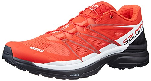 Salomon Unisex S-Lab Wings 8 Hiking Sneakers, Red Mesh, Textile, 9.5 D