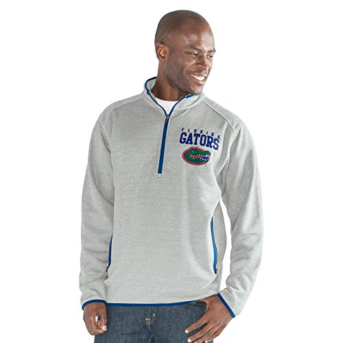 G-III Sports NCAA Florida Gators Men's 1 On 1 Quarter Zip Fashion Top, Heather Grey, 3X-Large