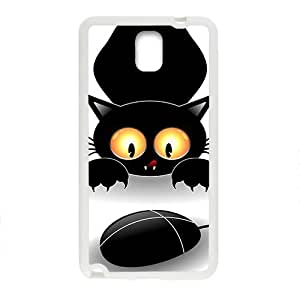 Black Cute Cat Play With Mouse Phone Case for Iphone 5/5S