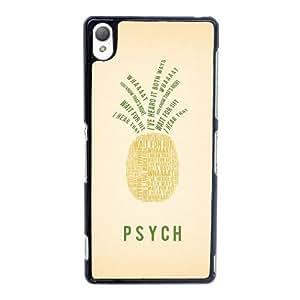 Psych caso 001 funda sony Xperia Z3 teléfono celular funda Y6L4QNQIFV negro