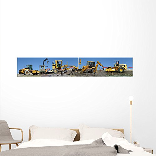 - Wallmonkeys Construction Equipment Working Panoramic Wall Mural Decal Graphic (72 in W x 12 in H) WM126743