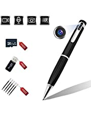 Hidden Camera Pen Recorder 1080P Built-in 32GB Spy Cover Lens Pen Cam Record Video with Motion Detection and Audio Pocket Digital Video Recorder with Loop Recording