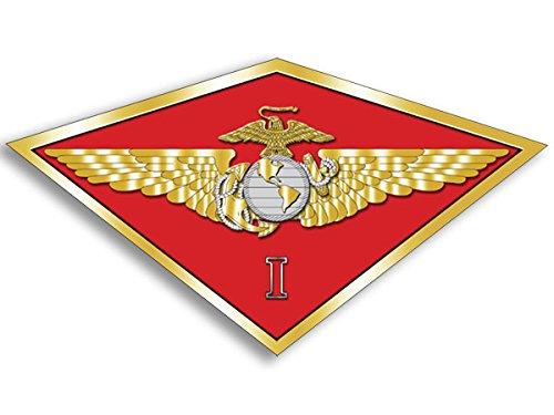 Marine Air Wing - MAW 1st FIRST Marine Aircraft Wing Sticker (diamond shaped i usmc)