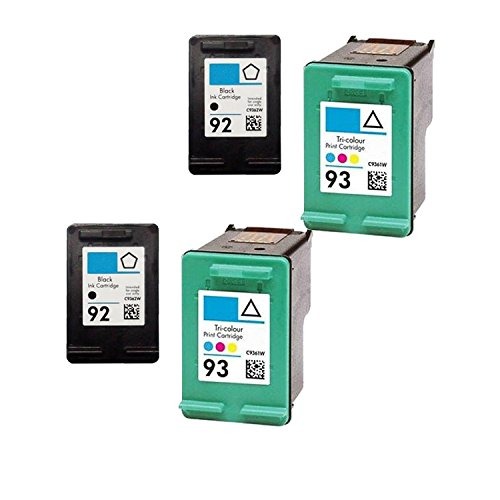 (Unknown Remanufactured Ink Cartridge Replacement for 2 x HP C9362WN + 2 x C9361WN (Black Color 4-Pack))