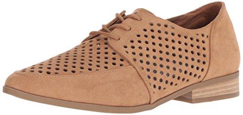 Dr. Scholl's Shoes Women's Equal Chop Oxford, Saddle Microfiber, 6 M US