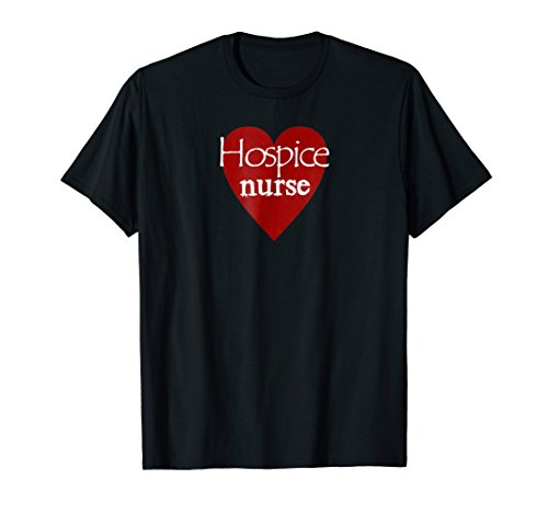 Hospice Nurse Heart I Love Nursing T-Shirt