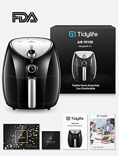 Air Fryer, Tidylife 4.5 Qt AirFryerXL with Smart Time & Temperature Control, 1500W Nonstick Basket HotAirFryer with 50+ Recipes by Tidylife (Image #7)