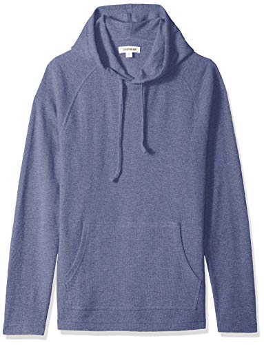 - Goodthreads Men's Long-Sleeve Slub Thermal Pullover Hoodie, Denim, Large