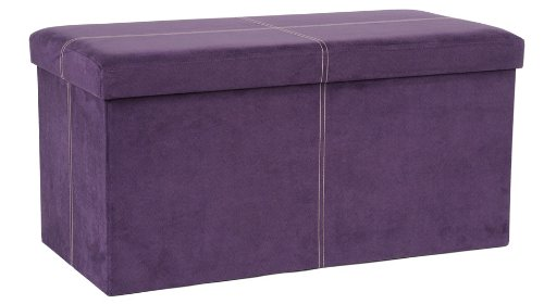 Amazon.com: FHE Group Microsuede Folding Storage Ottoman Bench, 30 by 15 by  15 Inches, Purple: Kitchen & Dining - Amazon.com: FHE Group Microsuede Folding Storage Ottoman Bench, 30
