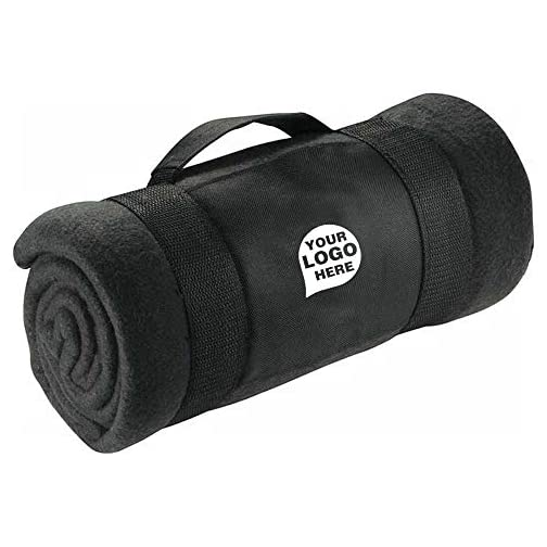 Roll-Up Fleece Blanket with Carrying Strap - 48 Quantity - $24.19 Each - Promotional Product/Bulk with Your Logo… |