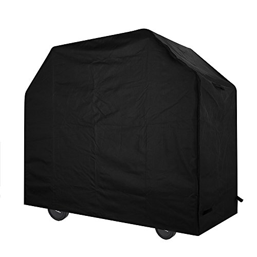 Amazon Lightning Deal 56% claimed: Homitt Gas Grill Cover, 58-inch Heavy Duty BBQ Grill Cover for Weber, Holland, Jenn Air, Brinkmann and Char Broil -Black