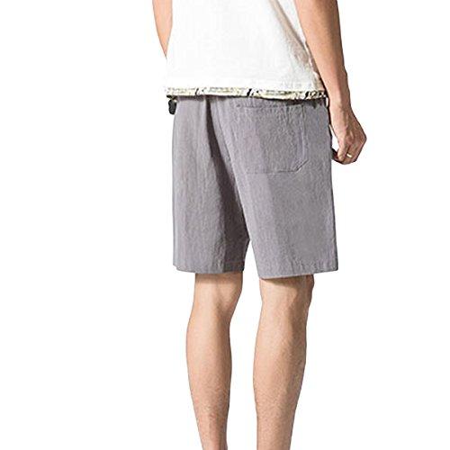 Youthup Gris Para Pantalón Corto Hombre r8Wn80v