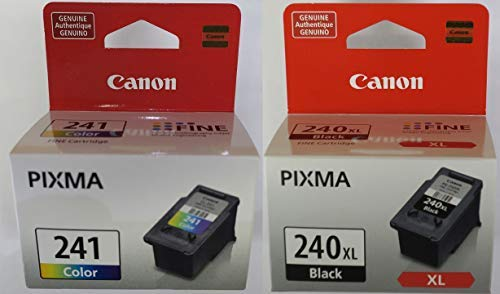 Genuine Canon PG-240XL High Capacity Black Ink Cartridge (5206B001) + CL-241 Color Ink Cartridge (5209B001) ()