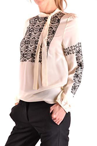 Blanco Qr0ab03h43n0an Mujer Red Blouse Seda Valentino q7pEf48