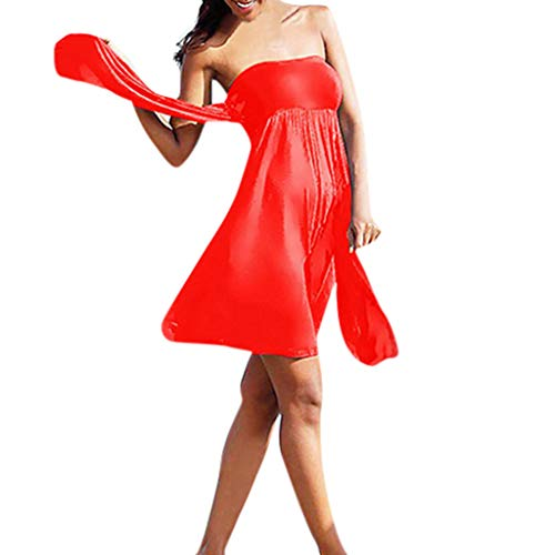 (Gooldu Women Swimsuits for Women 12 Colors Tankini Wrapped Chest Summer Casual Beach Skirt)