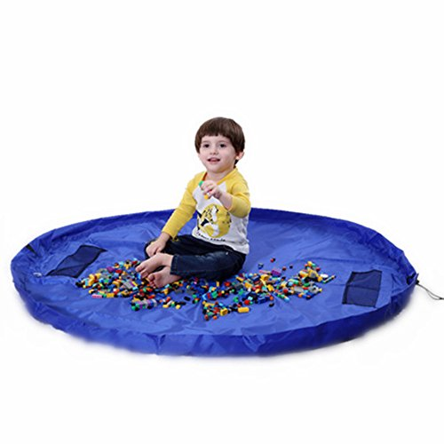 ORWIZ Toy Storage Organizer, Playmat Activity Mat Bag Lego Clean Up.Play for Hours-Cleanup in Seconds.Open to 60 Inch.