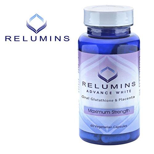3 Bottles of Relumins Advanced White Oral Glutathione Whitening Formula Capsules-max Strength
