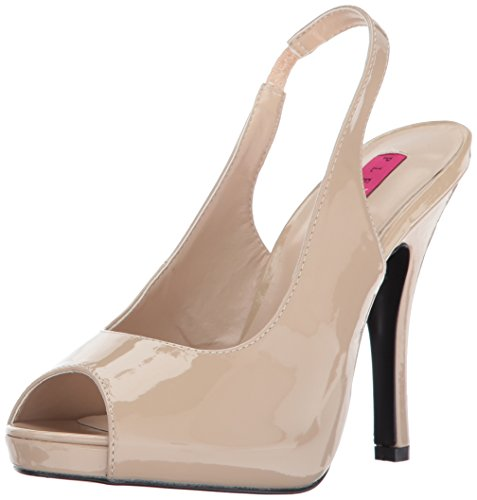 Dress Sandal Patent Cr Pink Women Platform Eve04 Cream Pleaser Label xYwRCq17