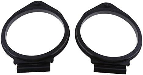 オペル適用 2ピース 6.5インチ ブラック プラスチック製 スピーカー アダプタ ブラケットリング