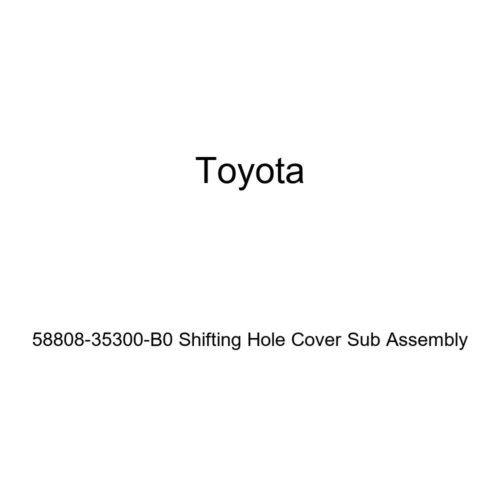 TOYOTA Genuine 58808-35300-B0 Shifting Hole Cover Sub Assembly