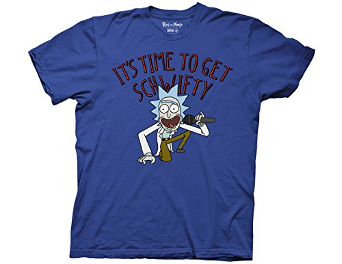 Ripple Junction Rick and Morty It's Time to Get Schwifty Adult T-Shirt Small Royal Blue (Swim Tee Adult Shirts)