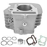 KIMISS Engine Gasket Kit, Engine Cylinder 56mm/2.2in Piston Gasket Fit for YX 140cc Pit Dirt Bike 1P56FMJ