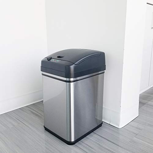 iTouchless 8 Gallon Pet-Proof Sensor Trash Can, Stainless Steel With Petguard, 08 Gallon