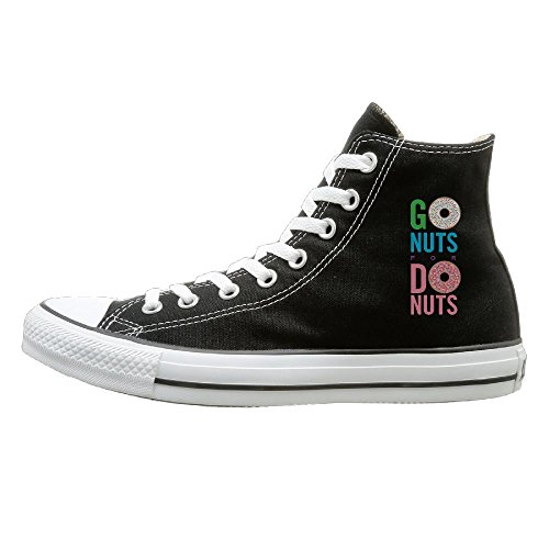 Kzsc55 Go Nuts For Donuts High-tops Canvas Shoes For Unisex 43