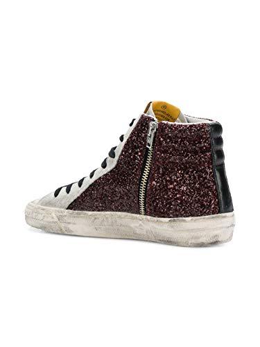 Pelle Goose G33ws595z4 Golden Sneakers Hi Top Bordeaux Donna xzYgqTwZ