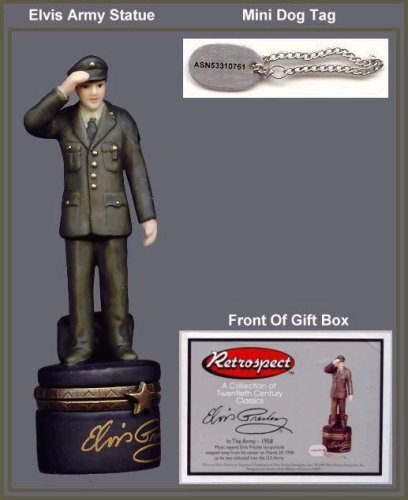 Elvis in the Army PHB ( Porcelain Hinged Box ) ()