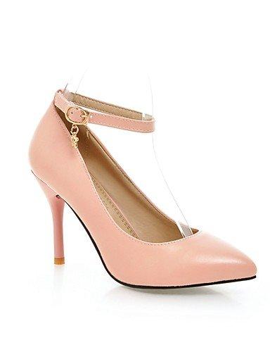 Ijkmn Cn39 rouge Pointu chaussures blanc Femmes Talon nbsp;carrière Black Talons Uk6 casual Ggx Eu39 Pu Noir amp; Bureau Des us8 rose orteil Aiguille rxBaqrFn0w
