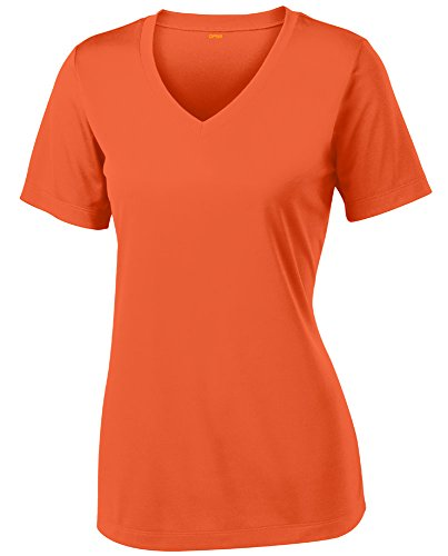 Opna Women's Short Sleeve Moisture Wicking Athletic Shirt, Medium, Deep Orange -