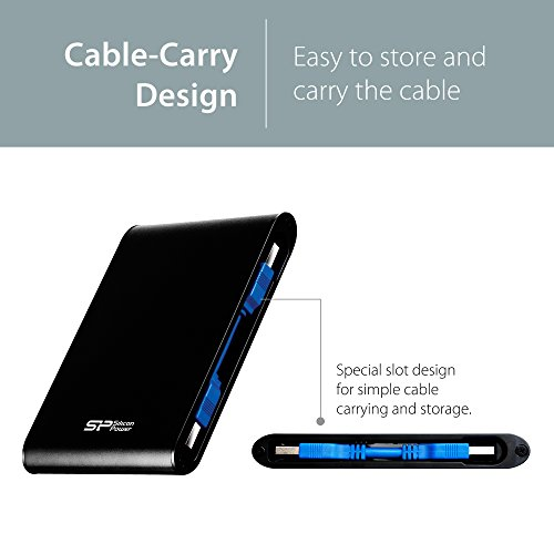 Silicon Power 2TB Black Rugged Portable External Hard Drive Armor A80, Waterproof USB 3.0 for PC, Mac, Xbox and PS4