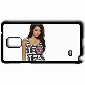 Personalized Samsung Note 4 Cell phone Case/Cover Skin Alie Layus T Shirt Smile Black