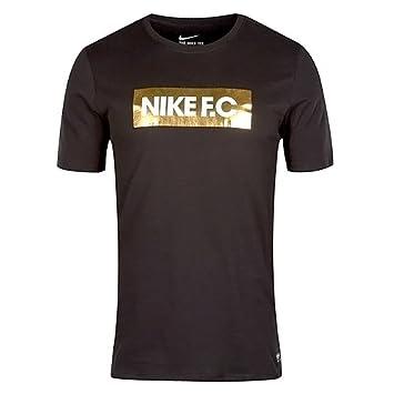 Nike Men's FC Foil Tee T-Shirt, Black/Black, Large